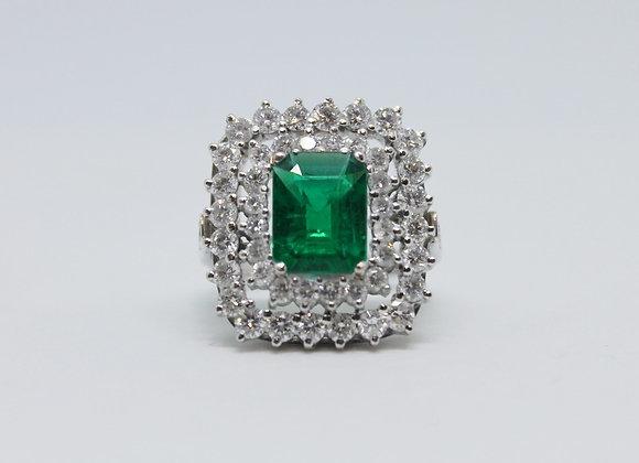 Emerald And Diamond Square Design