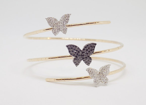Delicate Butterflies Bangle Design