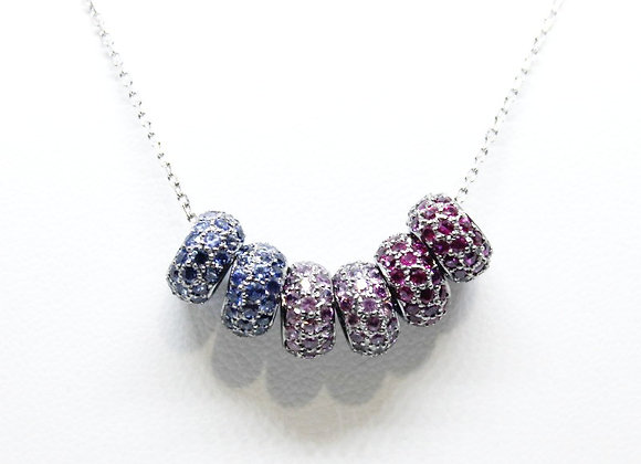 Multi Sapphire and Rubies Necklace Design