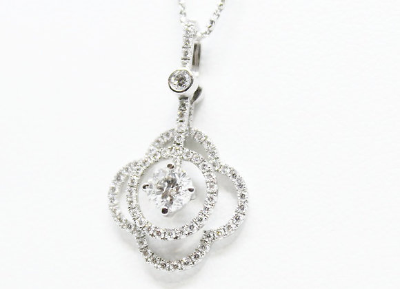 Clover and Circle Diamond Necklace