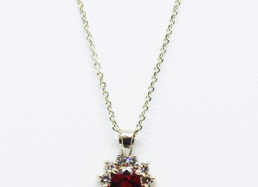 Ruby and Diamond Necklace Design