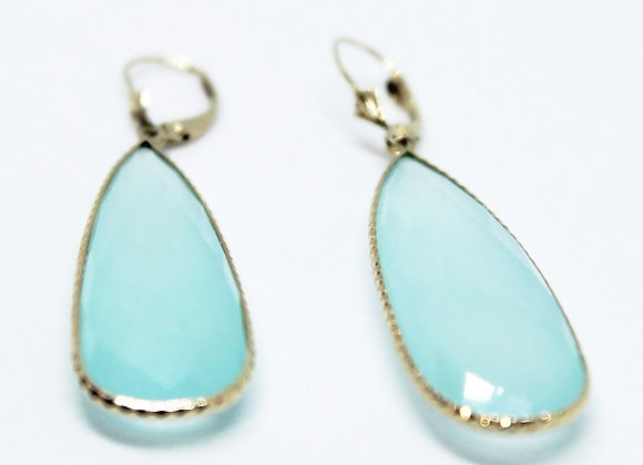 Chalcedony Dangling Earrings