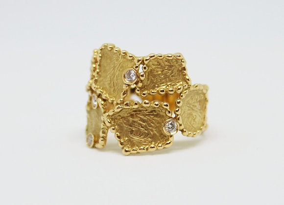 Brushed Gold Design Ring