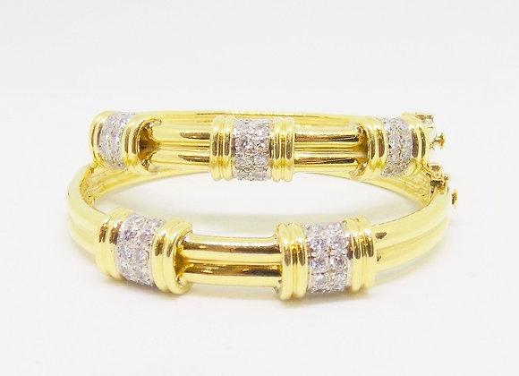 2 Bangles Design with Diamonds