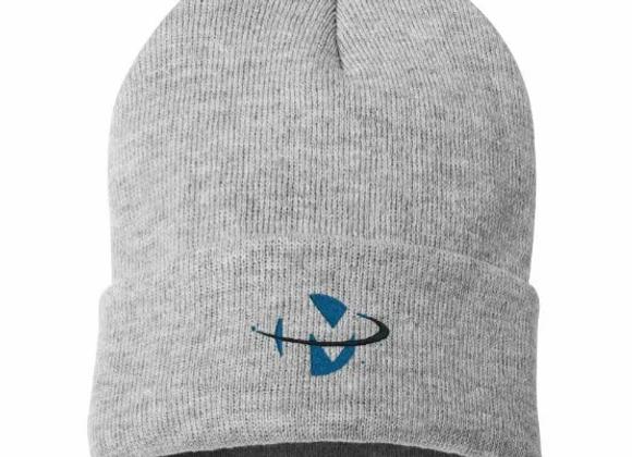 Grey Knit Cap with logo