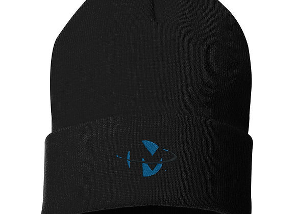 Black Knit Cap W Logo
