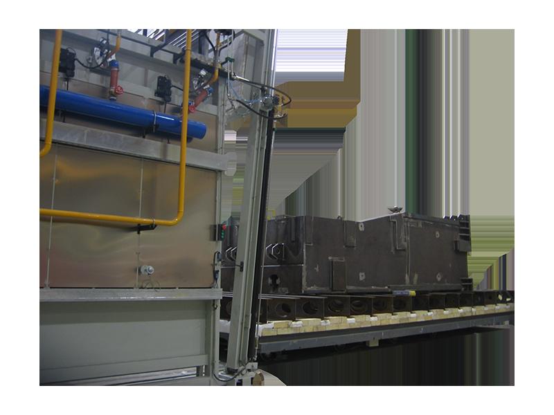 Horno a gas para tratamientos térmicos de distensionado de soldadura a las piezas de acero