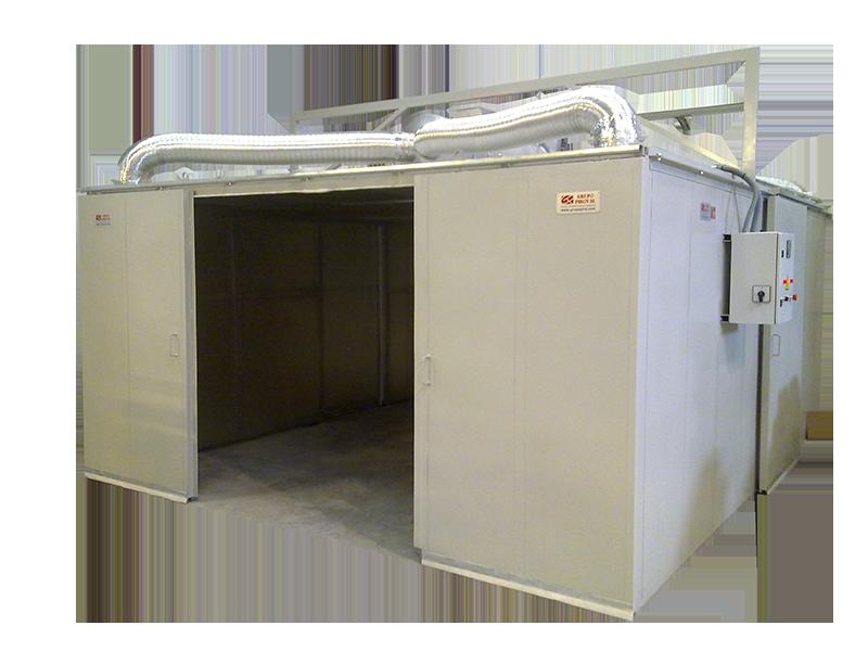 Secadero estático totalmente calefactado