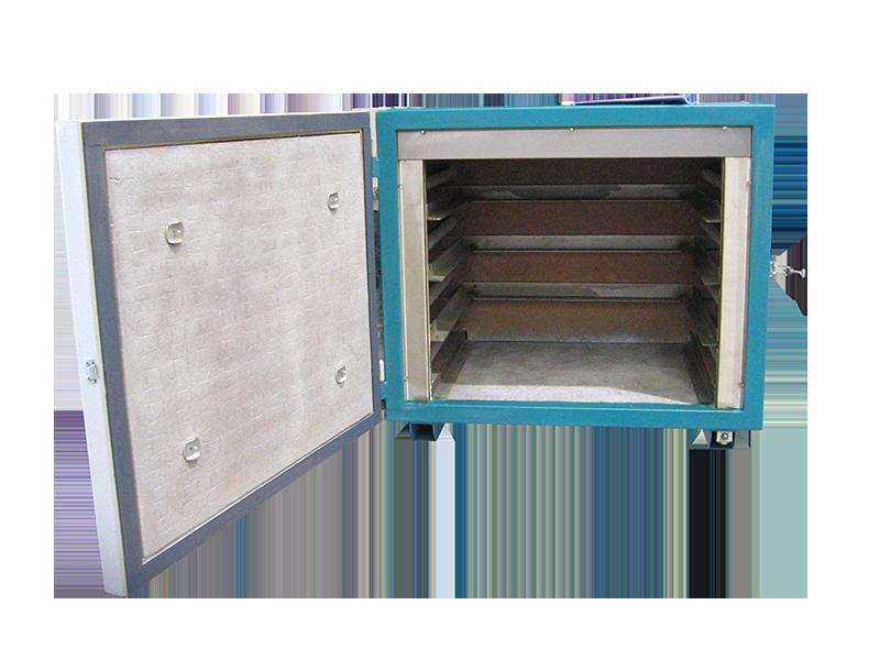 Horno eléctrico para tratamientos térmicos, sistema de 4 bandejas