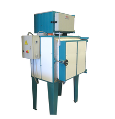 Horno eléctrico para el tratamiento de plásticos con incinerador