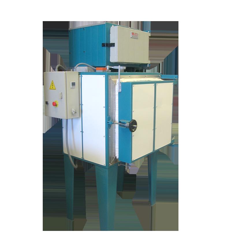 Horno eléctrico para el tratamiento de plásticos