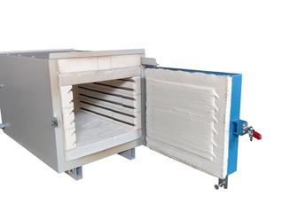 Horno eléctrico destinado al tratamiento de mezcla asfáltica para una temperatura máx. de 800ºC