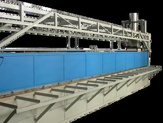 Horno a gasóleo para calentamiento de barras de acero 1.100 °C