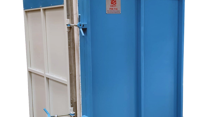 Horno a gas para pirolisis de ganchos de pintura