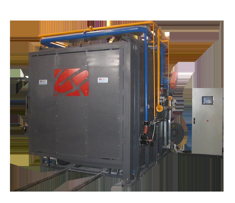 Horno a gas para tratamientos térmico - cerámica técnica