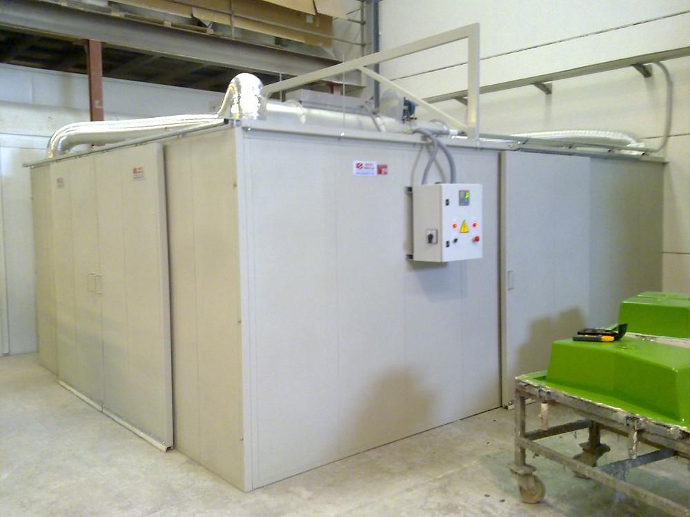 Secadero estático totalmente calefactado cerrado