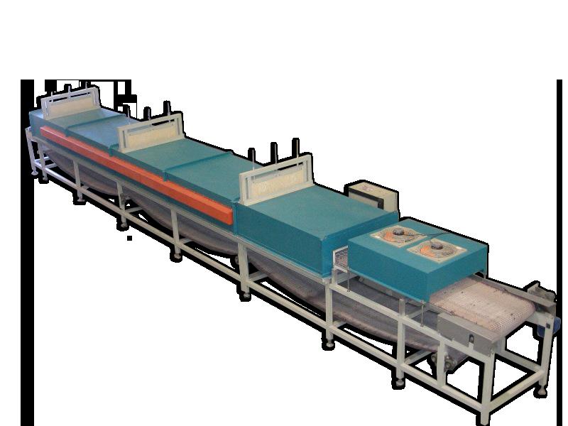 Secadero eléctrico de cinta para tratamientos térmicos