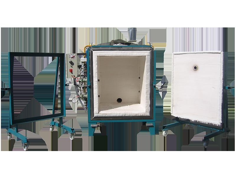Horno a gas natural para ensayos de resistencia en diversos materiales