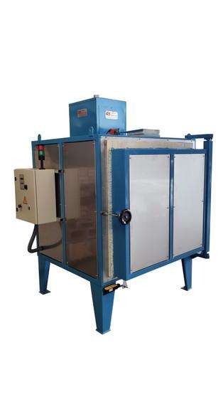 Horno eléctrico de 1.000 lt. de capacidad y temperatura de trabajo máxima de 1.280ºC