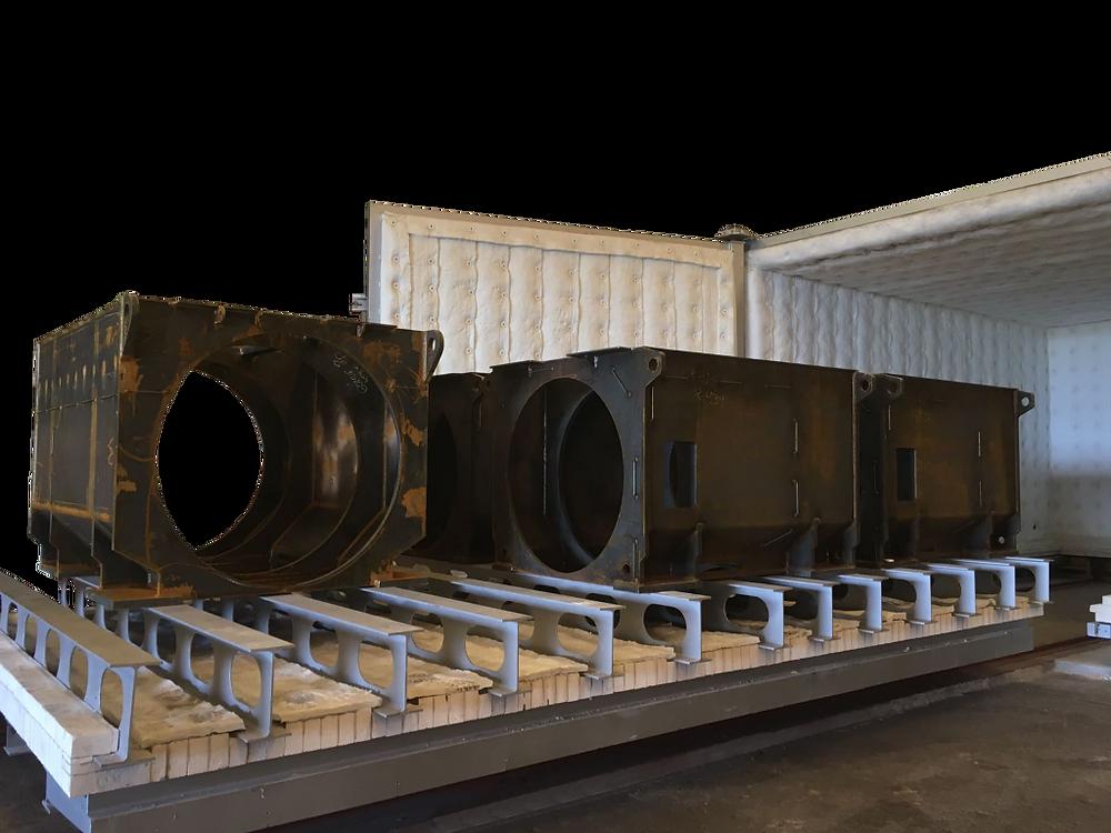 Horno de grandes dimensiones para el tratamiento de conjuntos soldados