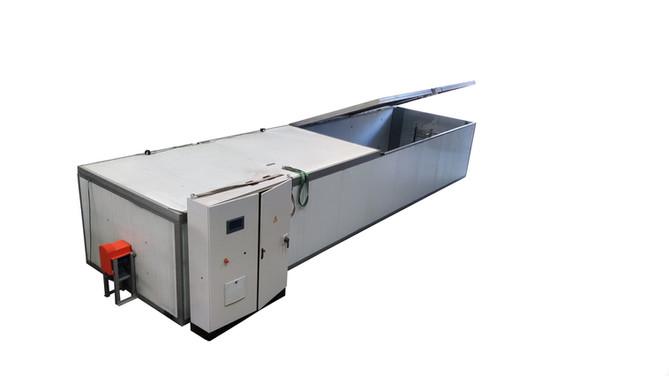 Conjunto de 10 hornos eléctricos para el secado de moldes a una temperatura de trabajo de 75ºC