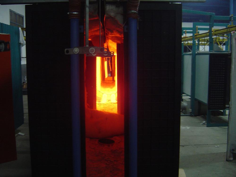 Horno de cadena para chapa esmaltada, horno a gas entrada