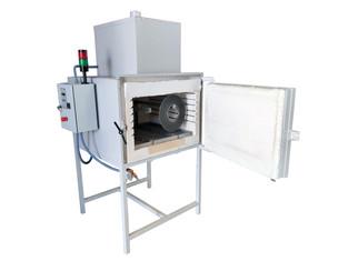 Horno eléctrico con cámara de postcombustión destinado al tratamiento de plásticos