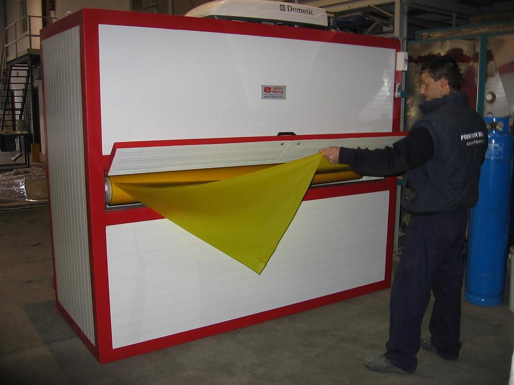 Cámara climatizada para la conservación de EVA