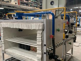 Ampliación de un horno de rodillos para azulejos