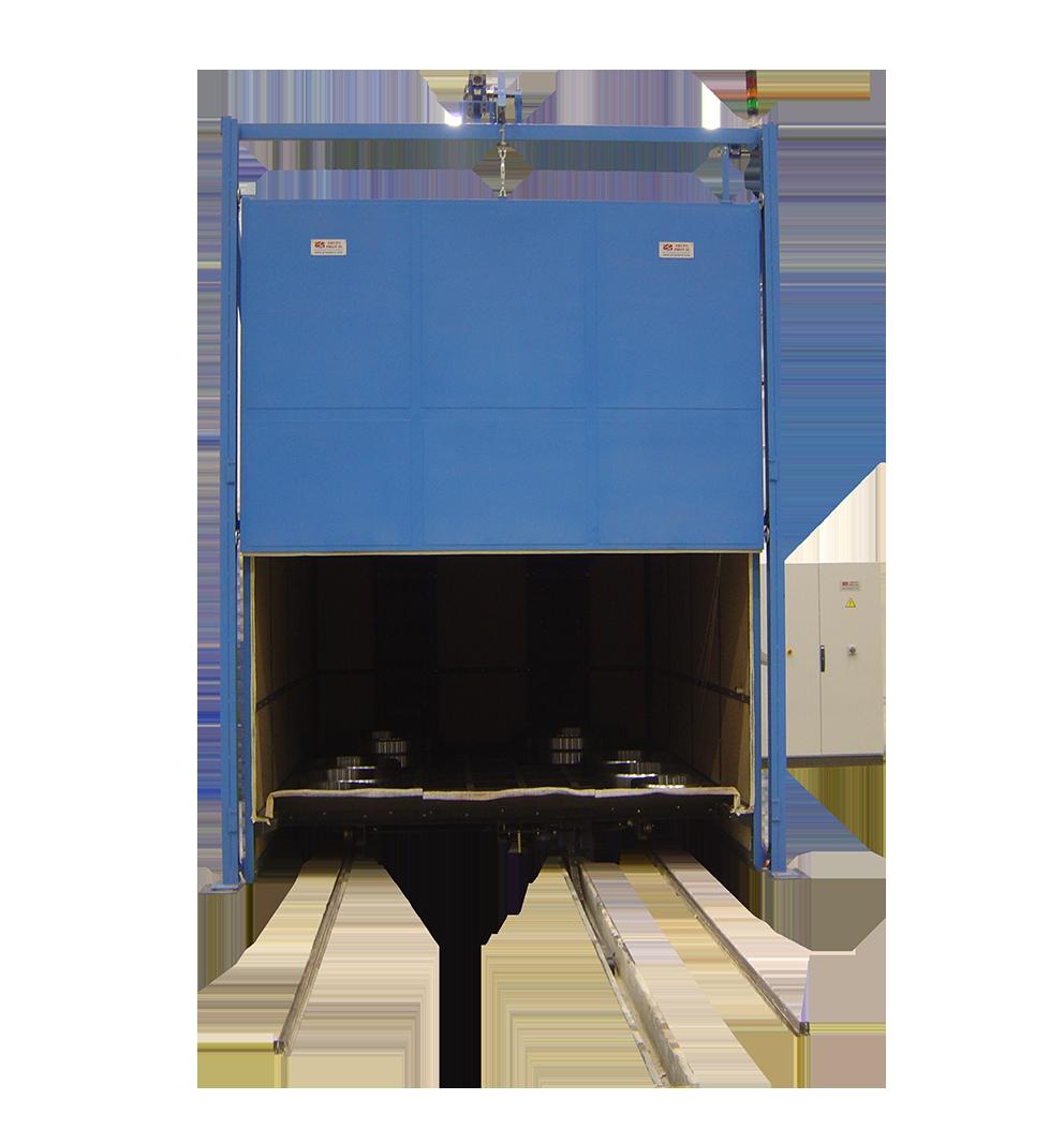 Horno eléctrico para tratamiento de piezas de grandes dimensiones