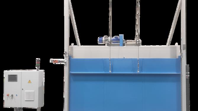 Horno eléctrico  con puerta de guillotina, destinado  para tratamientos térmicos en general