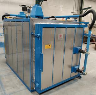 Horno a gas para azulejos de 4m³ de capacidad
