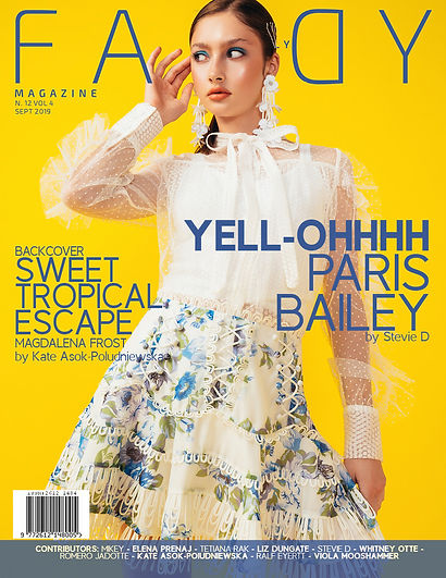 Published cover of Faddy Magazine, makeup artist