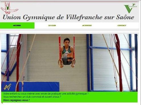 Site web Union Gymnique de Villefranche