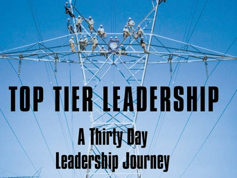 Book Talk: Top Tier Leadership: A Thirty Day Leadership Journey by Rob Manning
