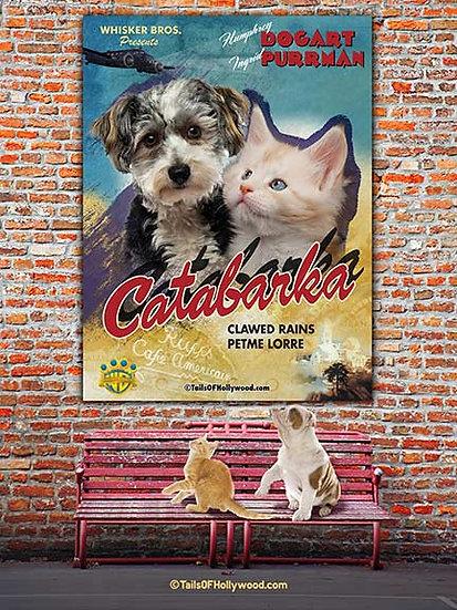 CATABARKA BILLBOARD ON BRICK WALL