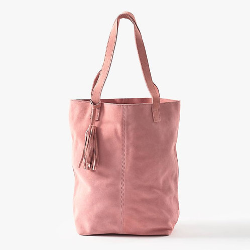 Pink Suede Tote