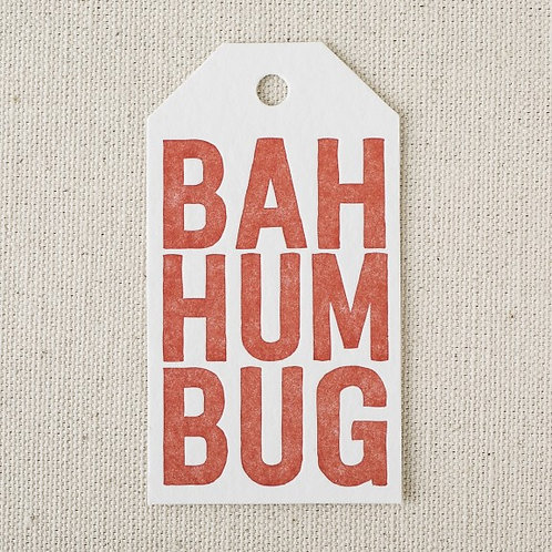 Humbug Die Cut Gift Tag