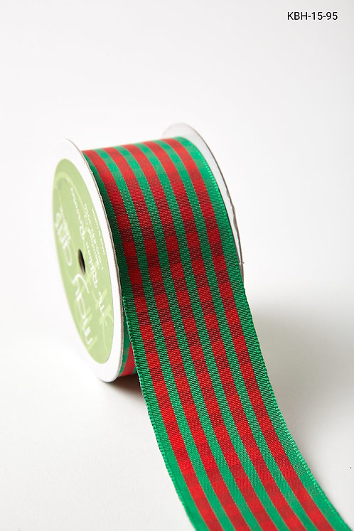 "Ribbon - 1.5"" Red/Green Checkered"