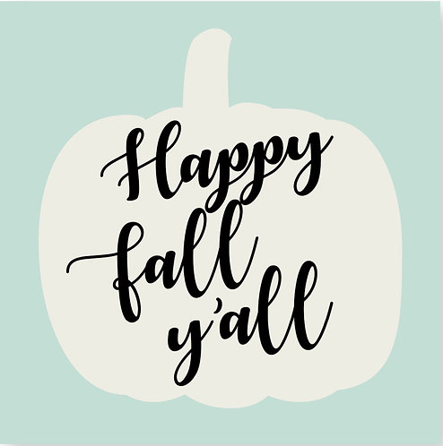 Cocktail Napkins- Happy Fall Y'all