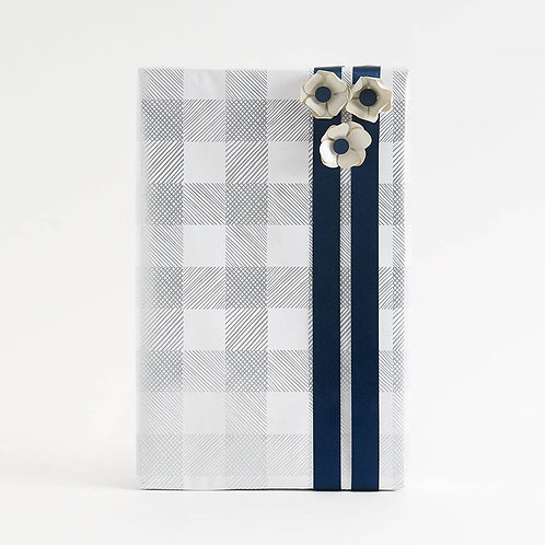 Silver Foil Wrapping Paper