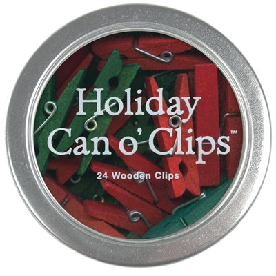 Holiday Can o' Clips