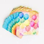 Balloon Watercolor Napkins