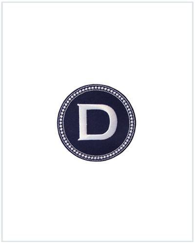 J Monogram Sticker - Navy