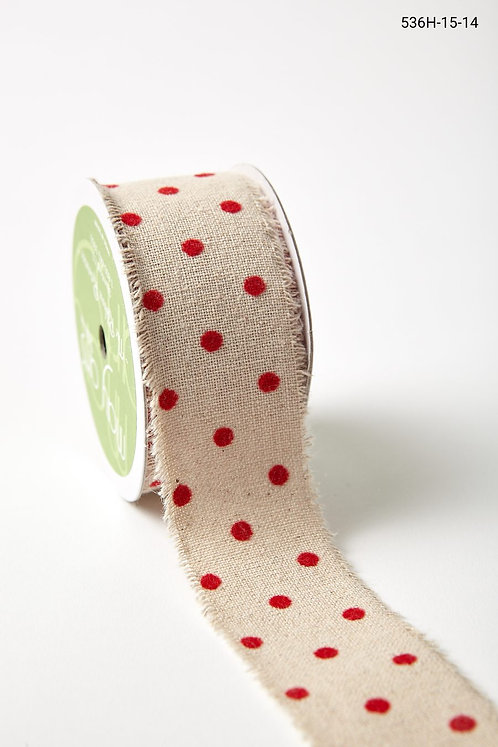 "Ribbon - 1.5"" Red Velvet Dot"