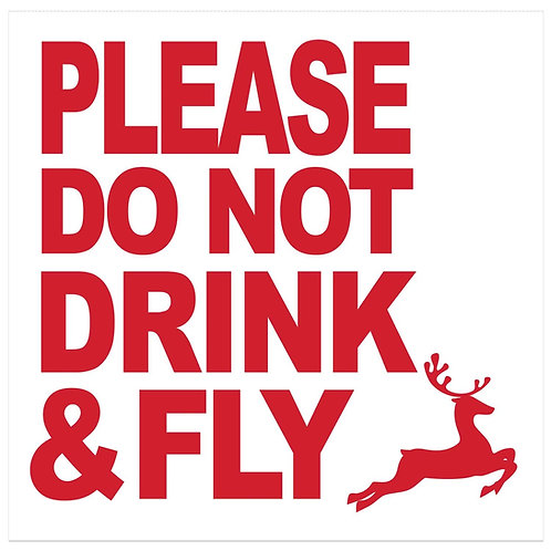 Cocktail Napkins- Do Not Drink & Fly