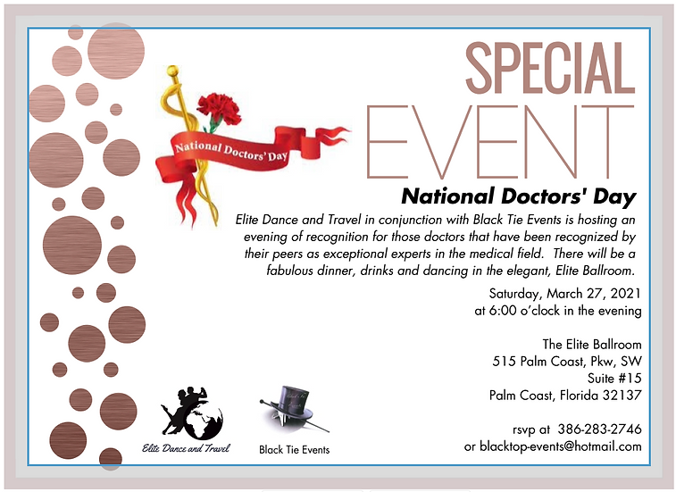 National Doctors's Day Ball Invitation