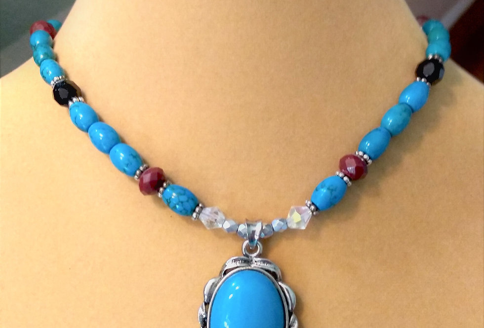 Faux Turquoise necklace