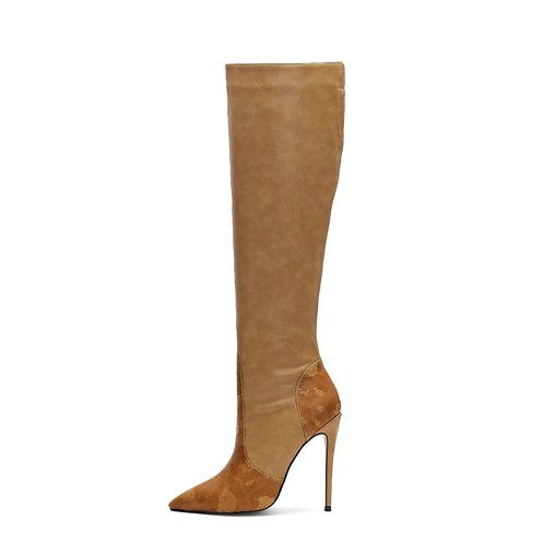 Sasha  Brown Signature Knee-High Boots