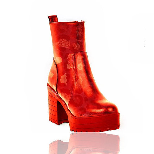 Ryna Rouge Reflection Ankle Boots